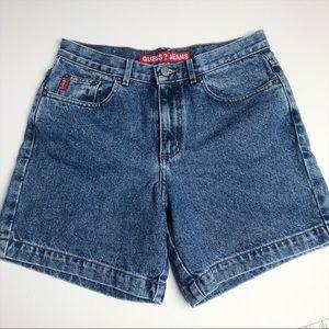 Guess Vintage Medium Blue Denim Shorts 28